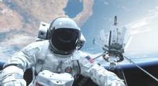 宇航员宇宙太空地球背景图片