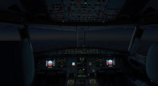 飞机驾驶仓飞行科技背景图片