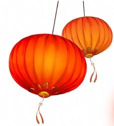 新年紅燈籠元素png素材圖片
