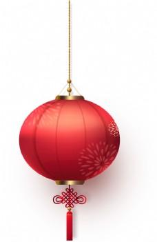 新年紅色燈籠元素png素材圖片