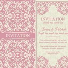 粉色花纹背景卡片图片