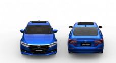 雅阁混动版极光蓝色汽车免扣素材图片