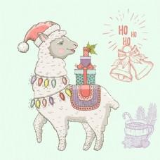 冬季服饰小动物图片