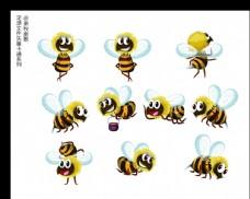 蜜蜂卡通矢量AI源文件图片