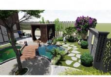 别墅庭院景观设计图片