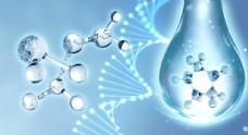 科技分子DNA水滴图片