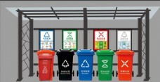 垃圾分类亭图片
