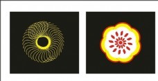 花创意线条矢量圆图片