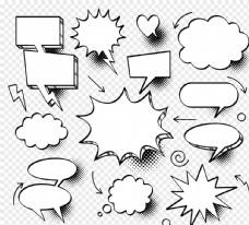 白色爆炸氣泡對話框圖片