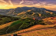 夕阳自然景观图片