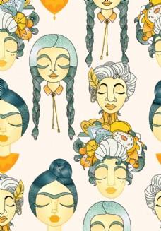 女人頭圖片