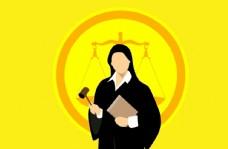 法官訴訟女人權威圖片