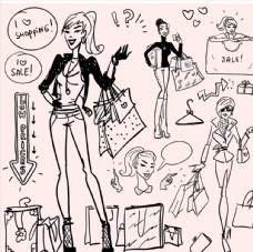 卡通女人圖片