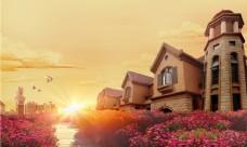 田园风光建筑自然景观美景图片
