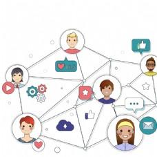 手机社交人物关系图表图片