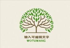 绿色有机生态logo设计图片