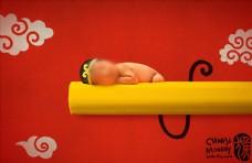 新生儿psd模板图片