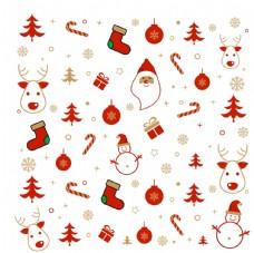 矢量圣诞节底纹雪人圣诞老人图片