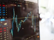 股市监控模糊图表数据图片