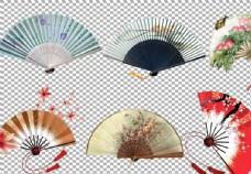 中國風扇子古風圖片