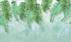樹葉芭蕉葉背景墻圖片