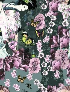 蝴蝶日本女人圖片