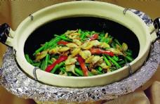 豫菜砂窝韭菜花海贝肉图片