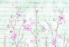 繁花盛开艺术墙花墙背景装饰图图片