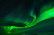 極光旅游自然背景海報素材圖片