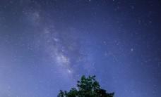 星空夜空旅游背景海報素材圖片