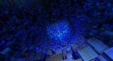 蓝色科技质感的层叠效果图片