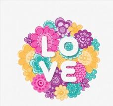 花卉爱艺术字图片