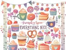 蛋糕插畫圖片
