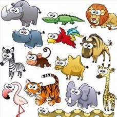 可愛的卡通動物圖片