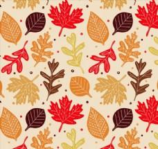 秋葉無縫背景圖片