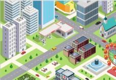 立体创意城市建筑物图案图片