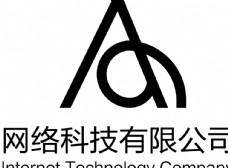 黑色A字母logo设计图片