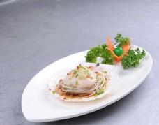 蒜茸粉絲蒸扇貝圖片