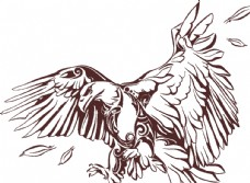 鹰矢量图图片