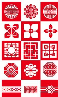 手绘中国风花纹图片