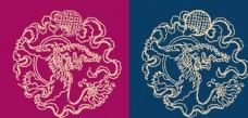 圆形底纹中国风矢量纹饰图片