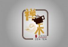 禅味茶LOGO设计图片