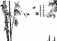 竹子硅藻泥矢量图图片