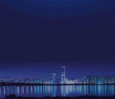 夜景蓝色底图背景图片