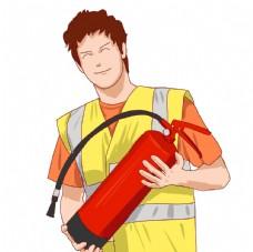 消防官兵卡通形象图片
