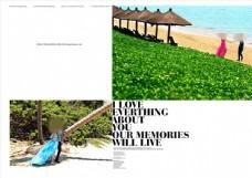 浪漫海滩婚纱照相册模板图片