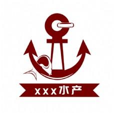船锚元素logo设计船业渔业图片