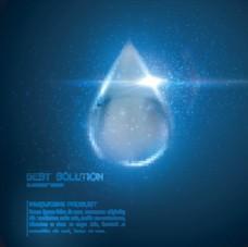 水滴光效背景图片