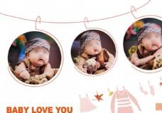 单纯的快乐儿童相册模板图片