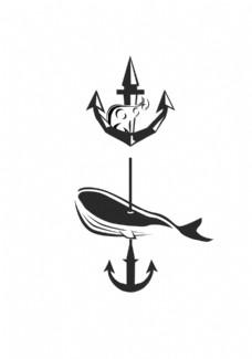 2款船锚元素logo设计图片